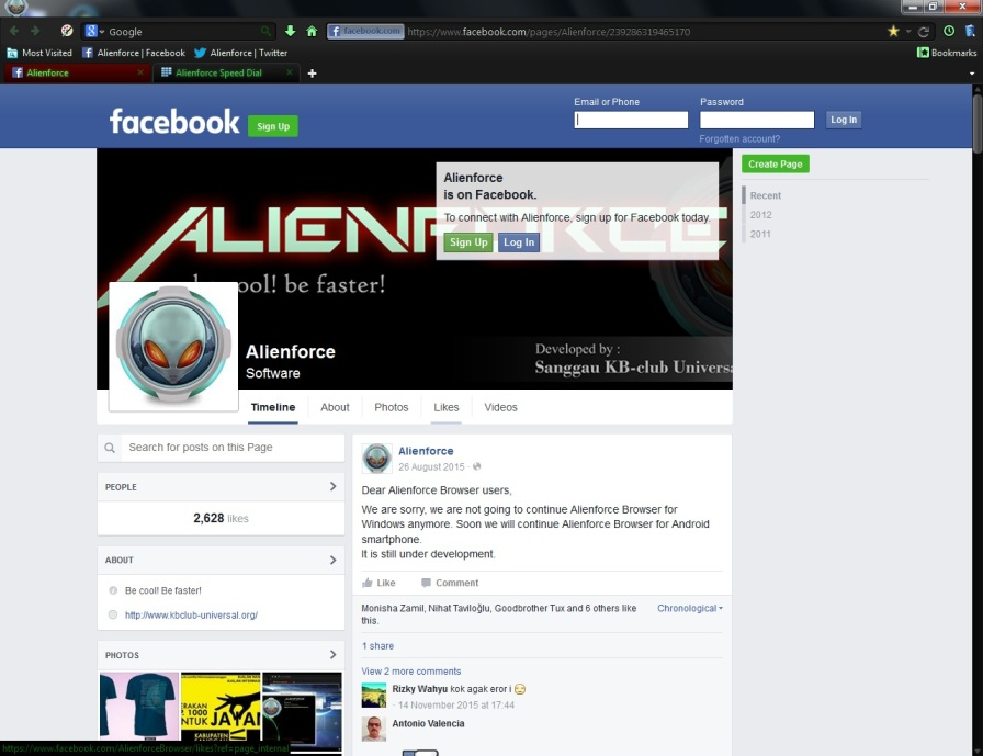 screen Alienforce 1